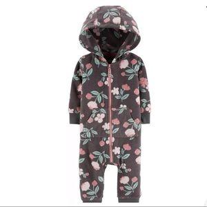 Carter's Hooded Floral Jumpsuit (9M)